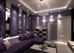 And purple sofa for living room design rendering purple living room