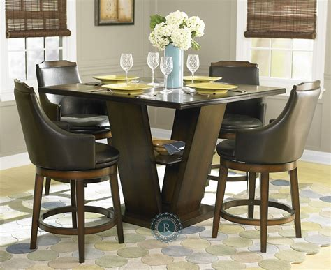 counter height dining room bayshore counter height dining room set 5447 36 homelegance