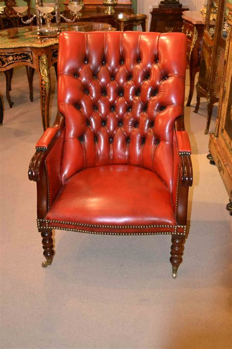 red leather armchair regent antiques armchairs and desk chairs armchairs