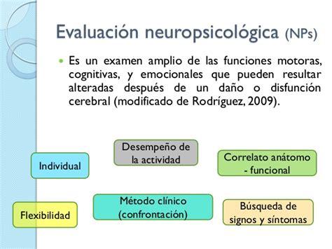 test neuropsicologici el test psicom 233 trico y la evaluaci 243 n neuropsicol 243 gica