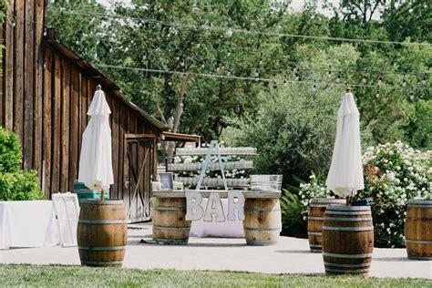 Backyard Wedding Bar Outdoor Wedding Bar An Intimate Outdoor Wedding In A