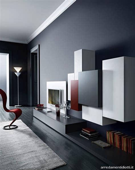 pareti soggiorno moderne pareti attrezzate moderne 70 idee di design per arredare
