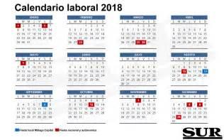 Lucia Calendã 2018 Calendario Laboral De 2018 Diario Sur