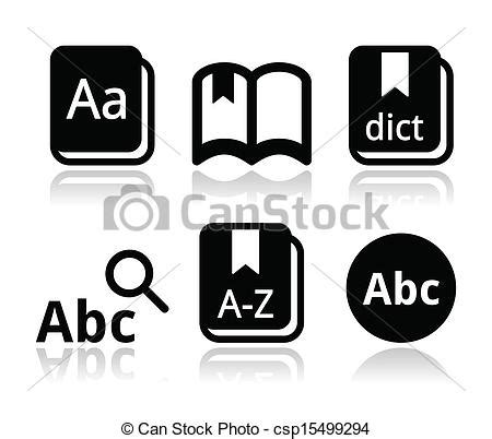 gallery for gt dictionary icon vector eps vectors of dictionary book vector icons set