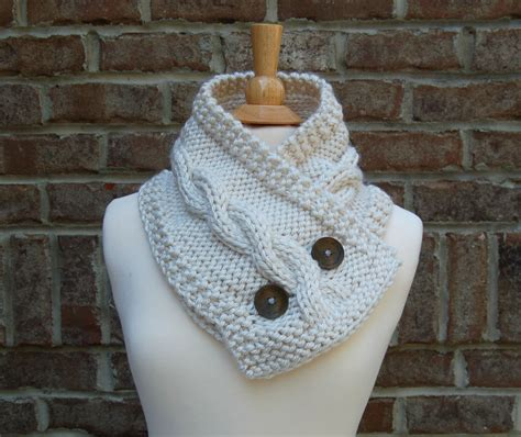 Handmade Knitted Scarves For Sale - handmade knit cable cowl knit cable scarf 183 pixanoodle