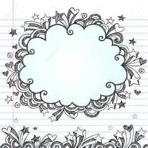 doodle flower border background notebook search backgrounds
