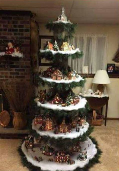 measurements christmas tree village display tree display tree