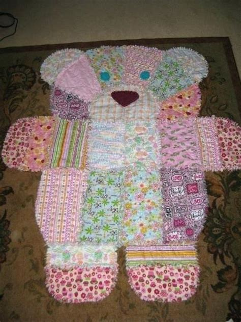 teddy quilt from baby clothes teddy baby