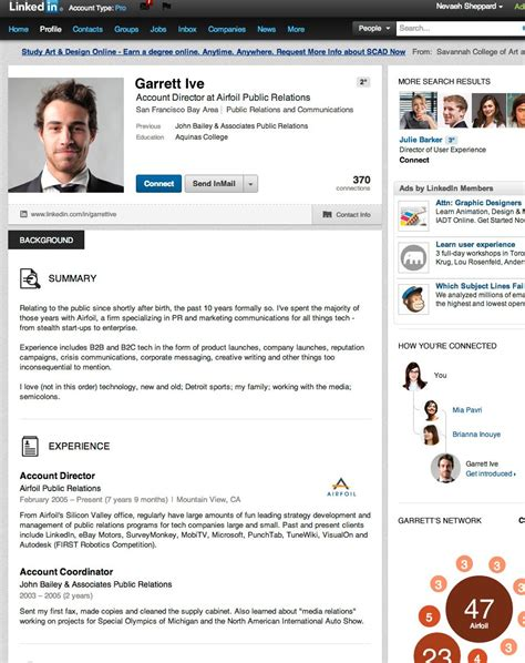 Linkedin Profile For Mba Student by Image Gallery Linkedin Profile Page Exles