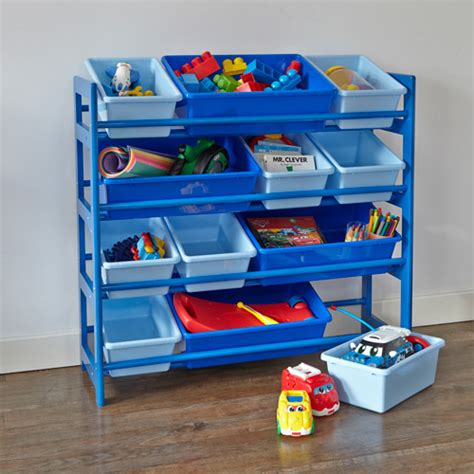 children storage 4 tier toy storage unit blue home storage systems from