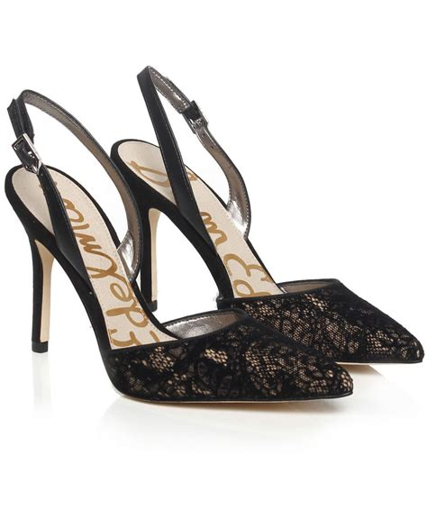 sam edelman high heels sam edelman lace heels in black lyst