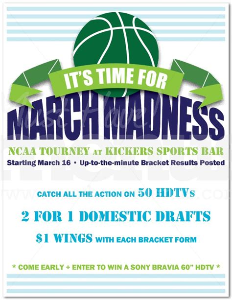 Getting Ready For March Madness Promotional Flyer Sles Uprinting Madness Flyer Template