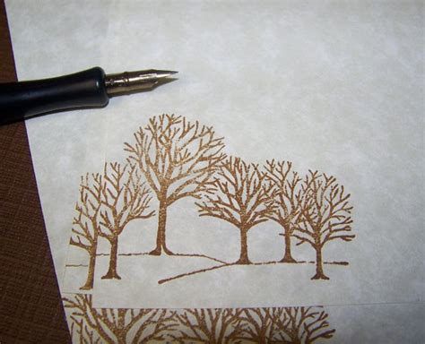 parchment paper for writing winter trees vintage parchment paper letter writing