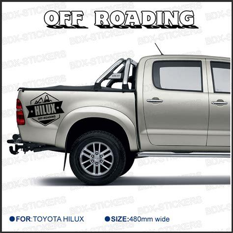 Toyota Sticker Aliexpress Buy 2 Pc Free Shipping Rear Sticker Hilux