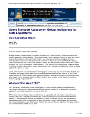 Fillable Online heartland Ozone Transport Assessment Group ... Ncsl Online Service