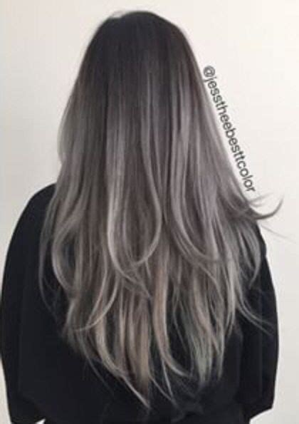 balayage cover gray hair 40 best images about new silver hair on pinterest silver