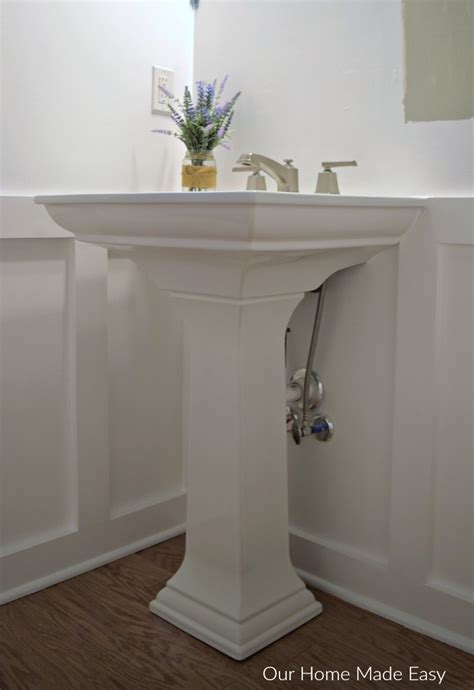 pedestal sink plumbing hide how to install a pedestal sink orc week 3 our home