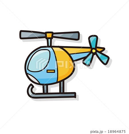 doodle helicopter helicopter doodleのイラスト素材 18964875 pixta