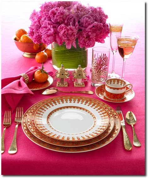 pink table settings pink table setting by lennoxx