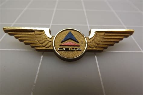 vintage delta airlines plastic wings pin ebay