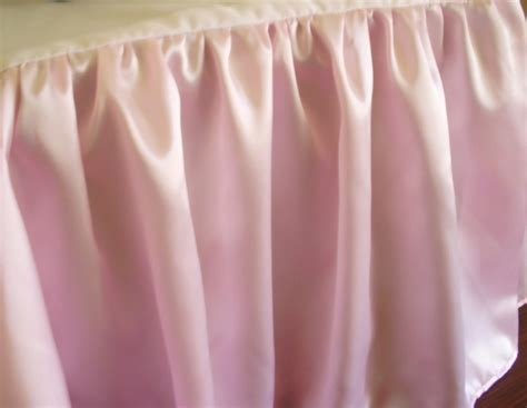 pink bed skirt pink satin bedskirt in all sizes including crib and daybeds and many custom skirt