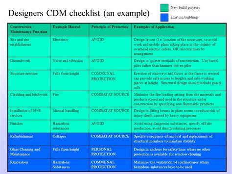 cdm design risk assessment template gallery templates
