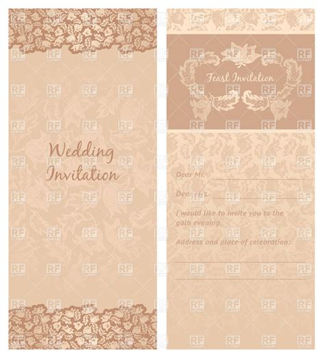 vintage st template vintage wedding invitation or greeting card template