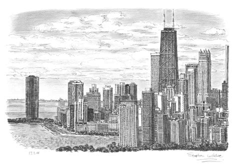 chicago skyline 2005 limited edition of 25 original