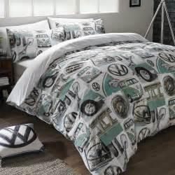 Car Quilt Cover Sets Vw Volkswagen Cervan Duvet Cover Sets Retro Car Bedding