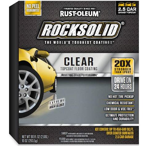 9 rust oieum garage coating kit rust oieum garage coating kit 1 year review mother 100 20 rust oleum rocksolid 90 oz clear top coat garage floor