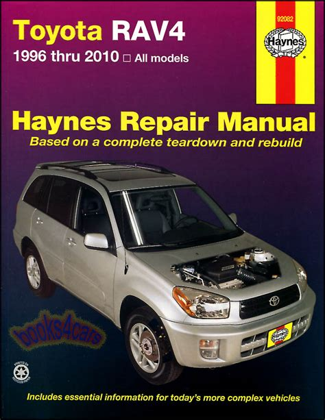 car manuals free online 2010 toyota rav4 transmission control toyota rav4 shop manual service repair book haynes maintenance chilton workshop ebay