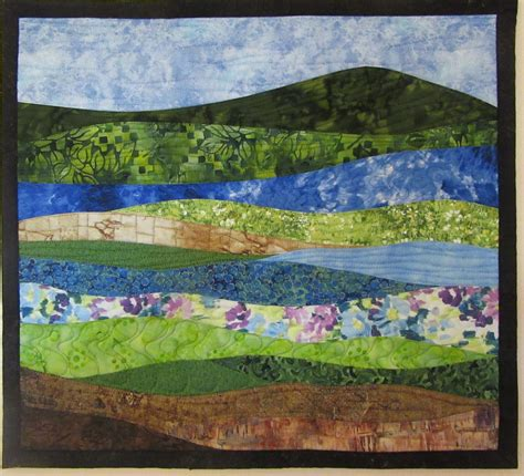 abstract pattern landscape landscapes quilts gallery art quilts by sharon