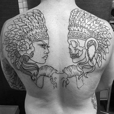 tattoo outlines for men 80 indian skull designs for cool ink ideas
