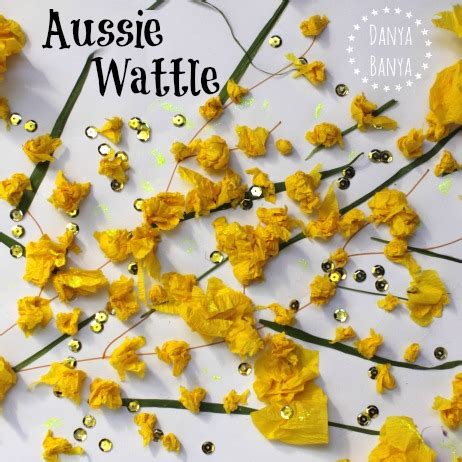 australian wattle craft for kids danya banya