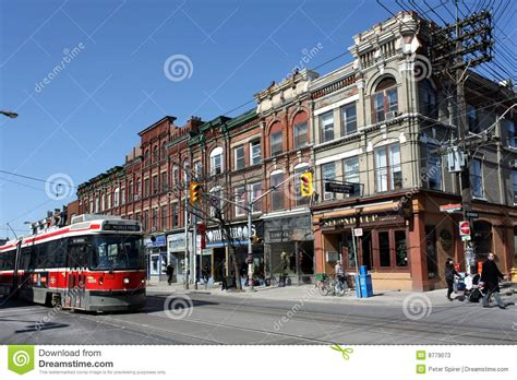 Old Victorian Storefronts In Toronto Editorial Stock Photo   Image: 8779073