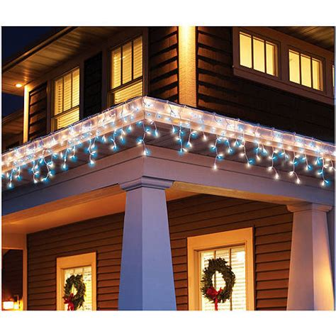 holiday time 300 count icicle christmas light set blue