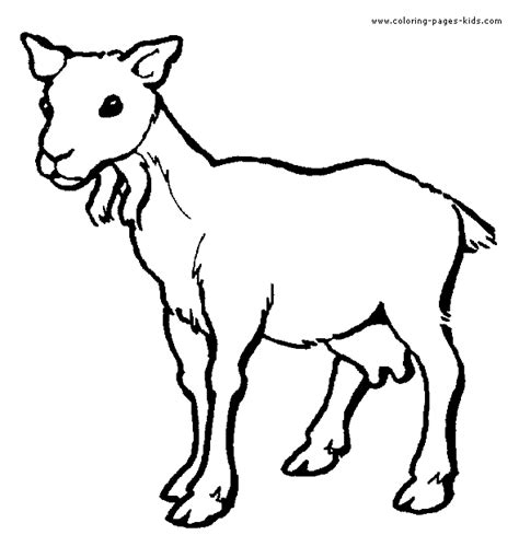 free coloring pages of goat face
