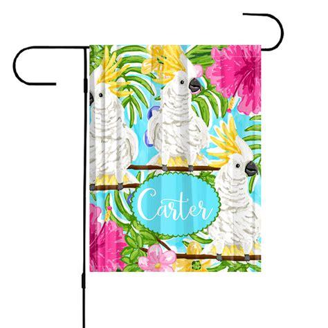 garden flag cockatoo personalized garden flag garden flag pink flamingos decorative garden flag