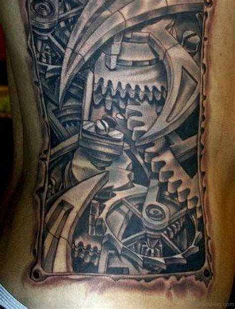 3d biomechanical tattoo designs 50 biomechanical tattoos for rib