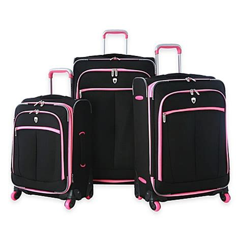 bed bath and beyond evansville olympia 174 usa evansville 3 piece 4 wheel expandable spinner