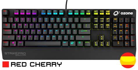 imagenes de un teclado teclado mec 225 nico gaming cherry red ozone strike pro
