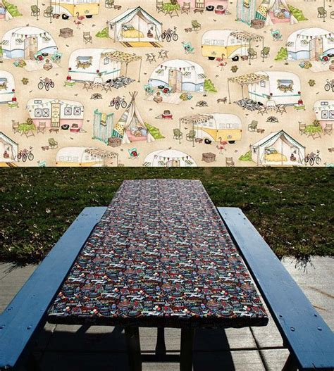 heavy duty picnic table cloth the 25 best picnic table covers ideas on
