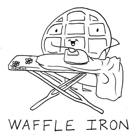 waffle coloring pages coloring pages