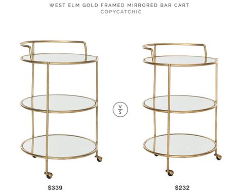 west elm framed desk west elm gold framed mirrored bar cart copycatchic