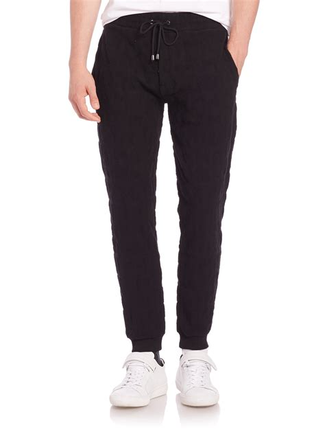 Kenzo Stretch kenzo textured stretch cotton sweatpants in black for lyst