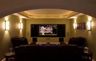 ordinary Wall Decor For Kitchens #7: traditional-home-theater.jpg