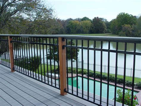metal porch railing fortress fe26 traditional iron railing panel with 3 rail