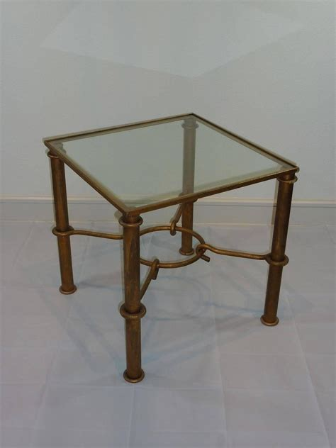 gilded iron faux bamboo accent table at 1stdibs vintage faux bamboo gilded metal end table for sale at 1stdibs