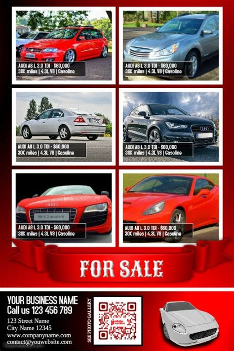 Cars For Sale Flyer Moderne Design Template Color Red Http Www Postermywall Com Index Php Car For Sale Flyer Template Free