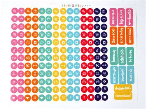 to do stickers living well planner sticker set living well shop